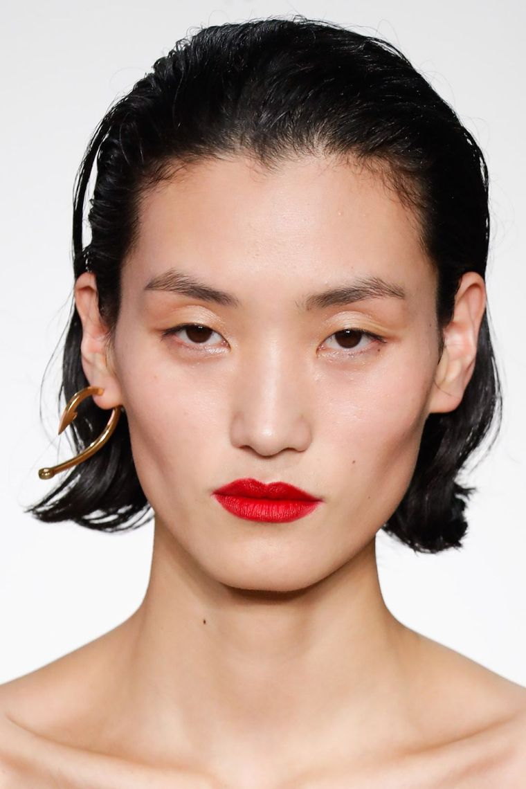 modern lipstick in red