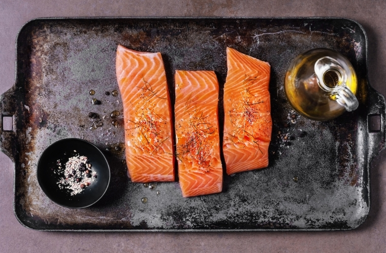 the salmon is rich in omega 3