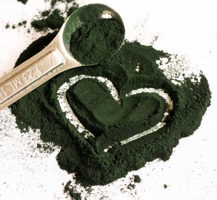 spirulina heart powder consume