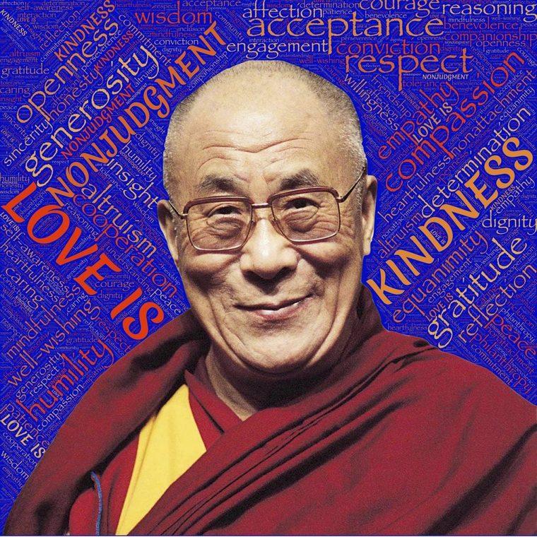 Dalai Lama bald man