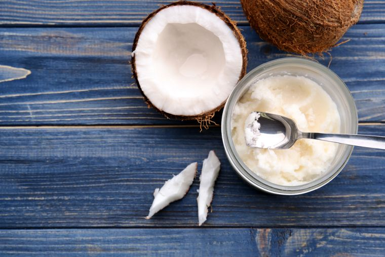 tips with coconut oil