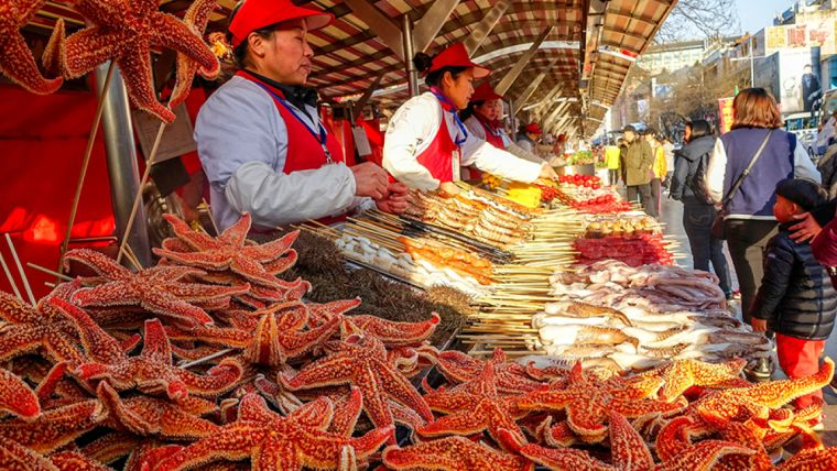 the market in China