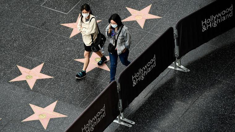 Hollywood empty star alley