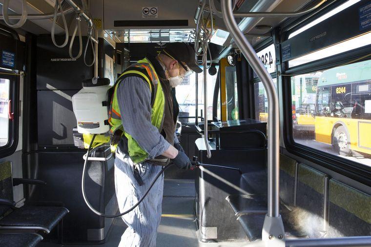 complete disinfection public transport
