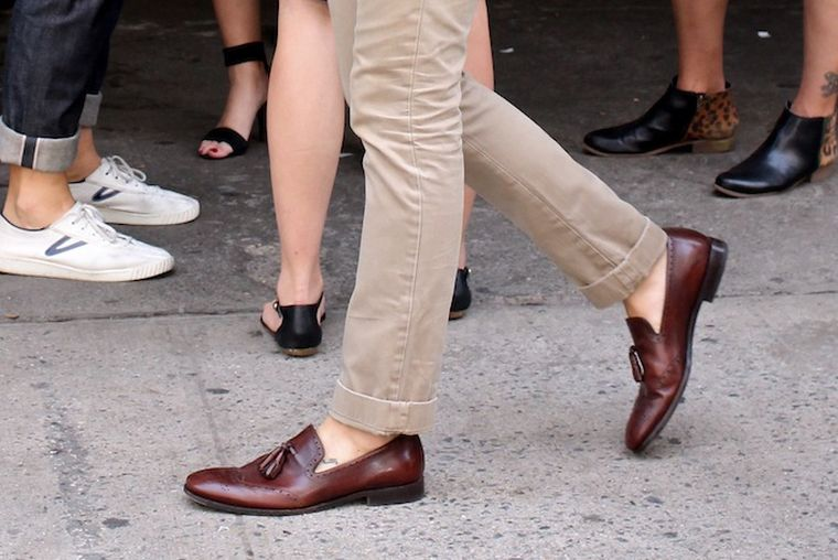 fashion man shoes city