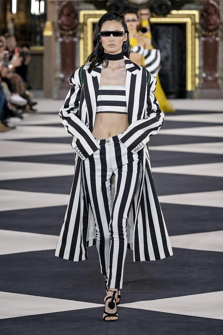 Balmain striped cropped top and pants