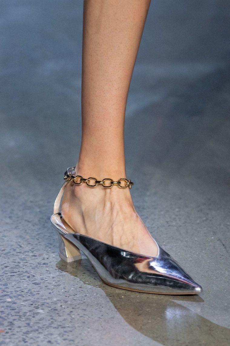 summer shoes with chain by J.W. Anderson