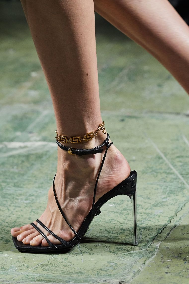 women's heeled shoes by Versace