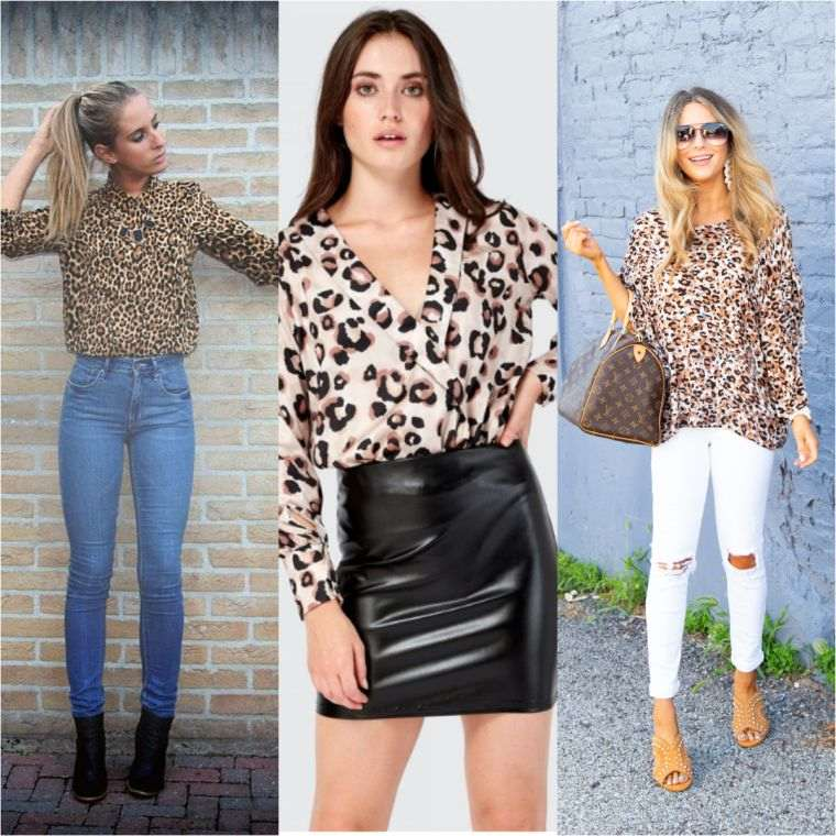 leopard blouse with animal patterns