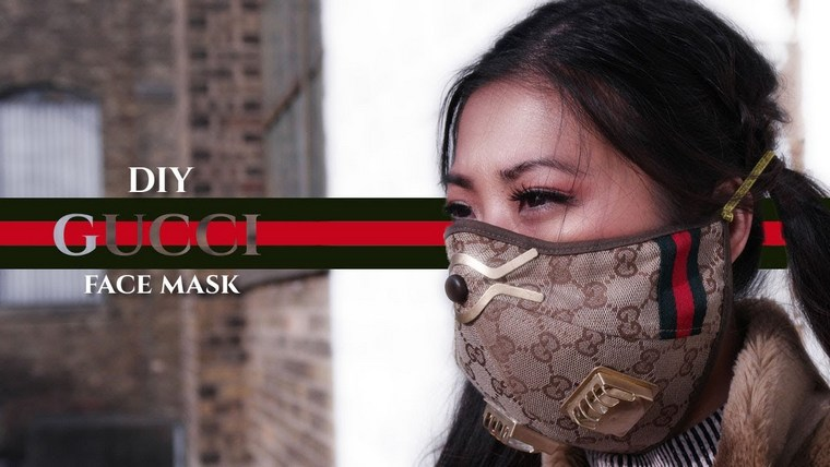 how to make your own Louis Vuitton mask