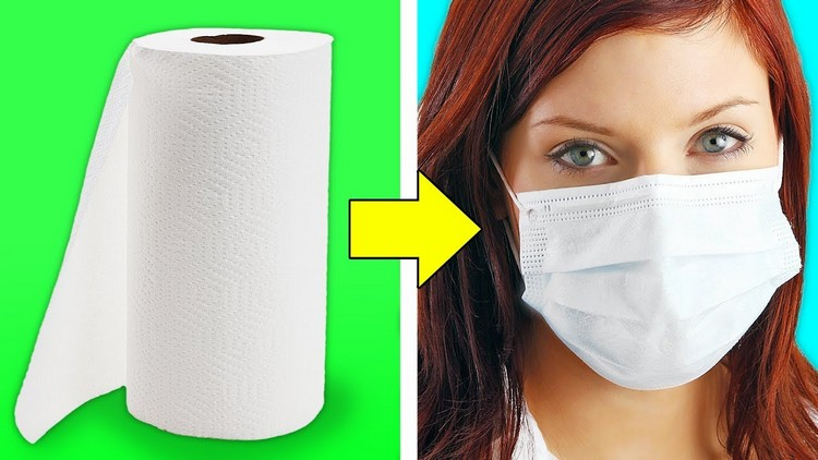 make a respiratory mask made of absorbent paper