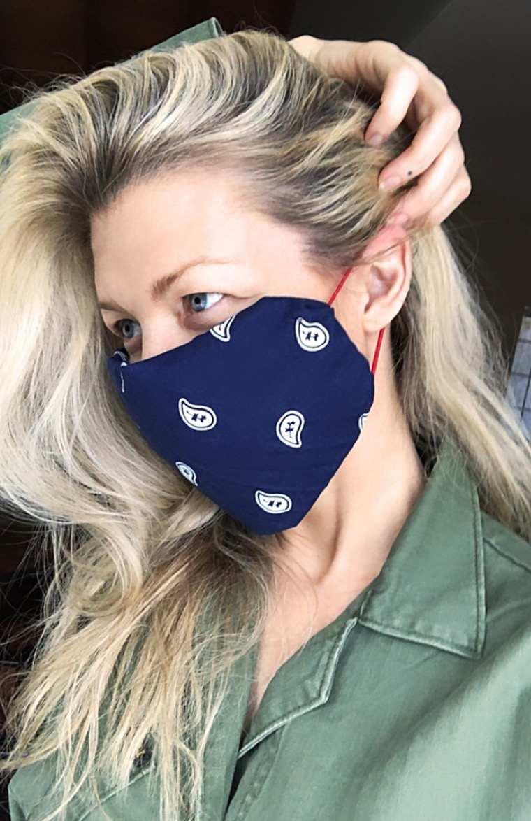 wear a bandana breathing mask
