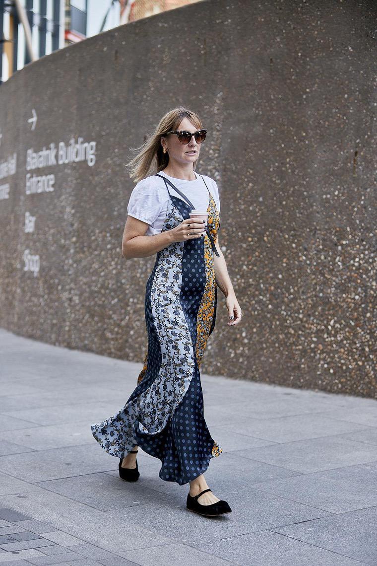 long fashion dress woman london