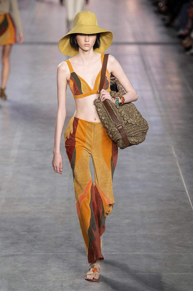 women's fashion 2020 outfit: short top and long skirt by Ferretti