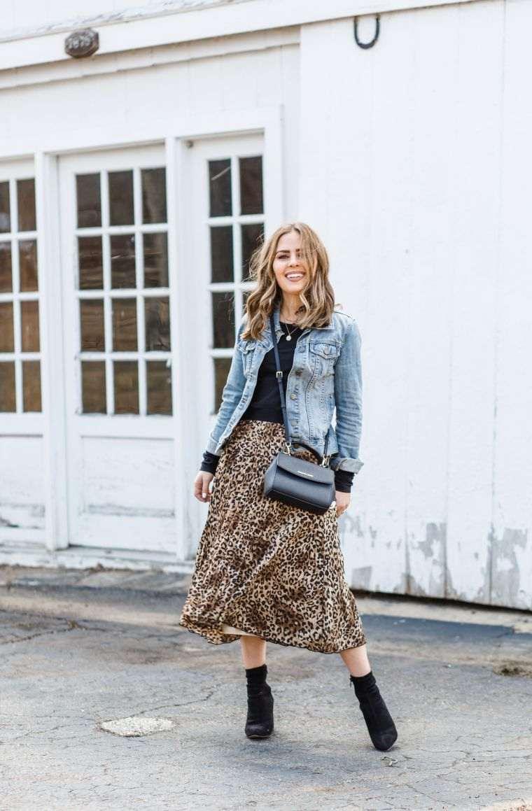 modern long skirt