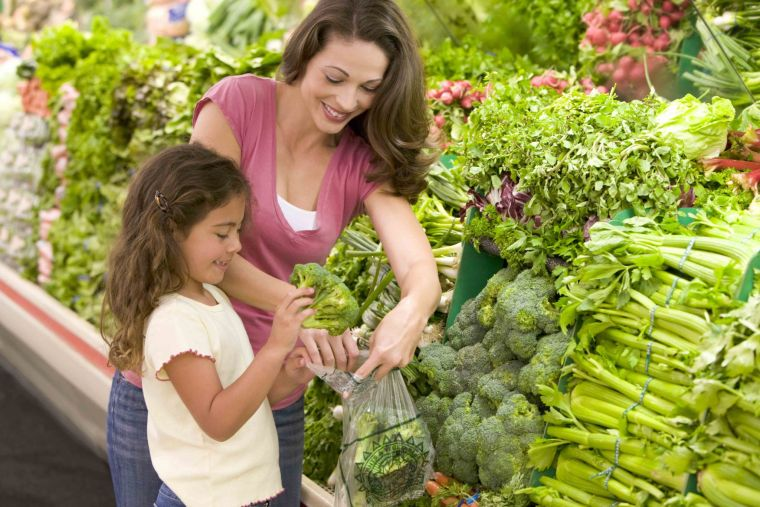 green vegetables for children