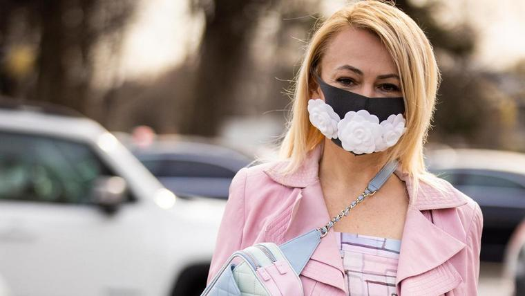 fashion mask against coronavirus