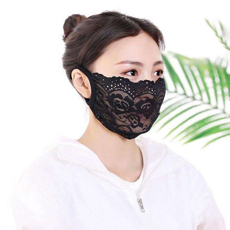 black lace protection mask