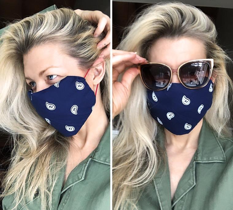 diy reusable fabric face mask