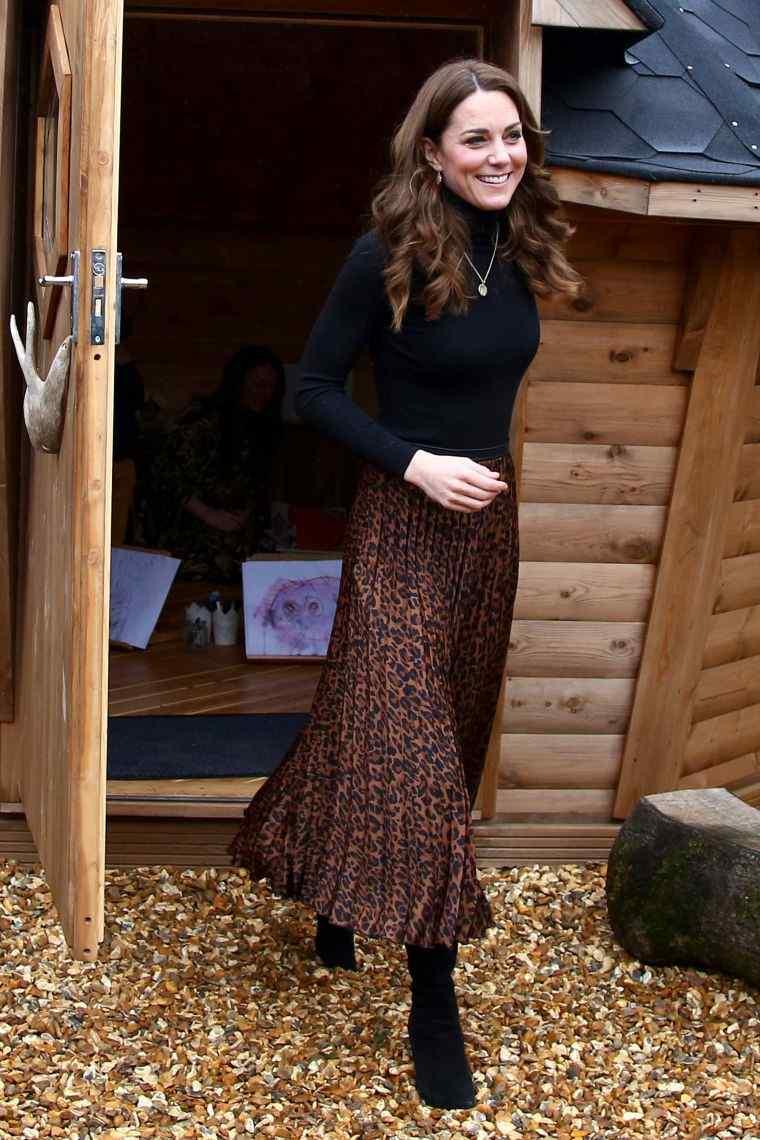 long skirt with animal motifs