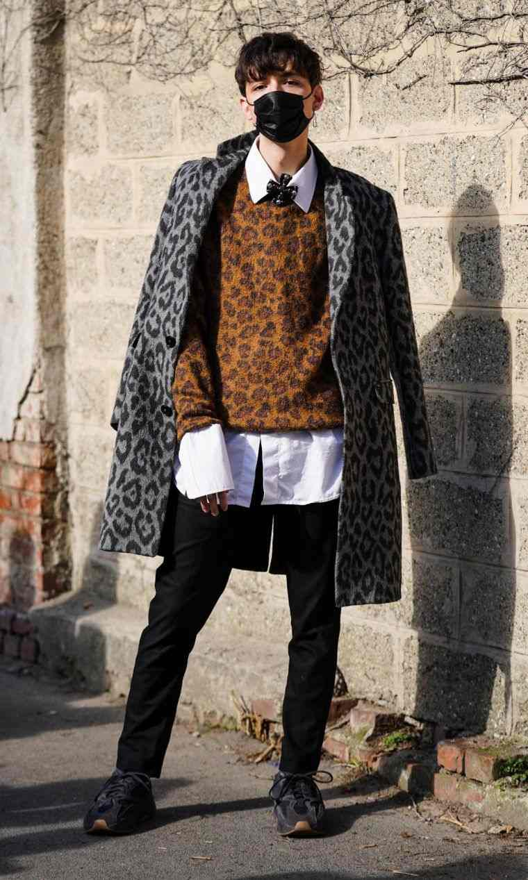 outfit with animal motifs