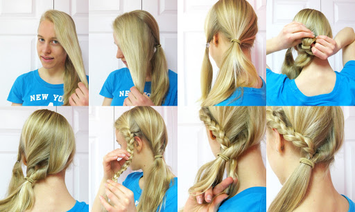 hairstyle first communion pigtail side braids