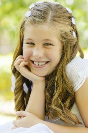 hairstyle first communion simple easy fast elegant