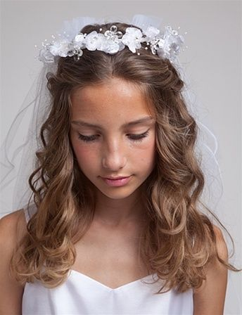 first communion hairstyles loops corkscrews