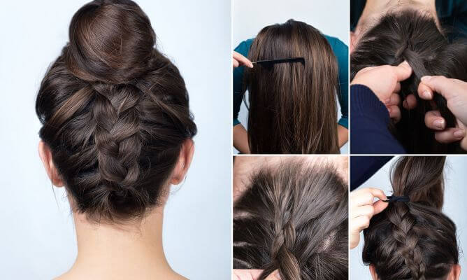 hairstyles first communion chongo braid root