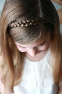 hairstyles first communion headband short hair
