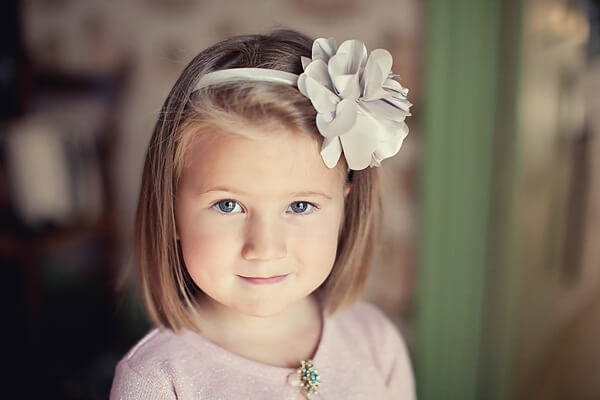 hairstyles first communion headband flowers side