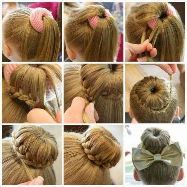 first communion hairstyles donuts braids