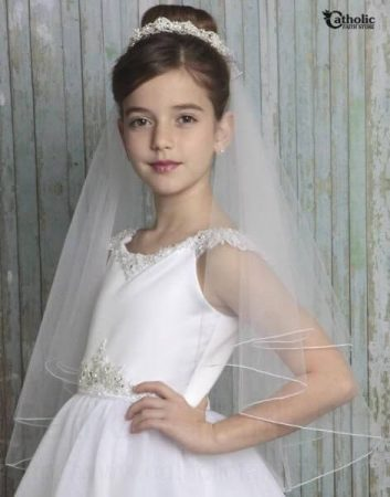 First Communion Hairstyles High Up Elegant