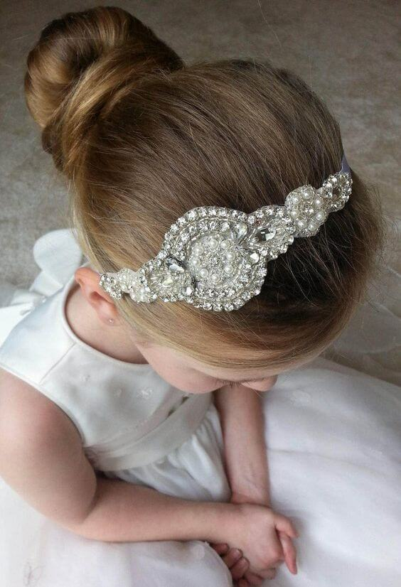First communion tiara hairstyles collected under