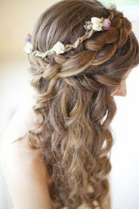 first communion hairstyles side braid flowers