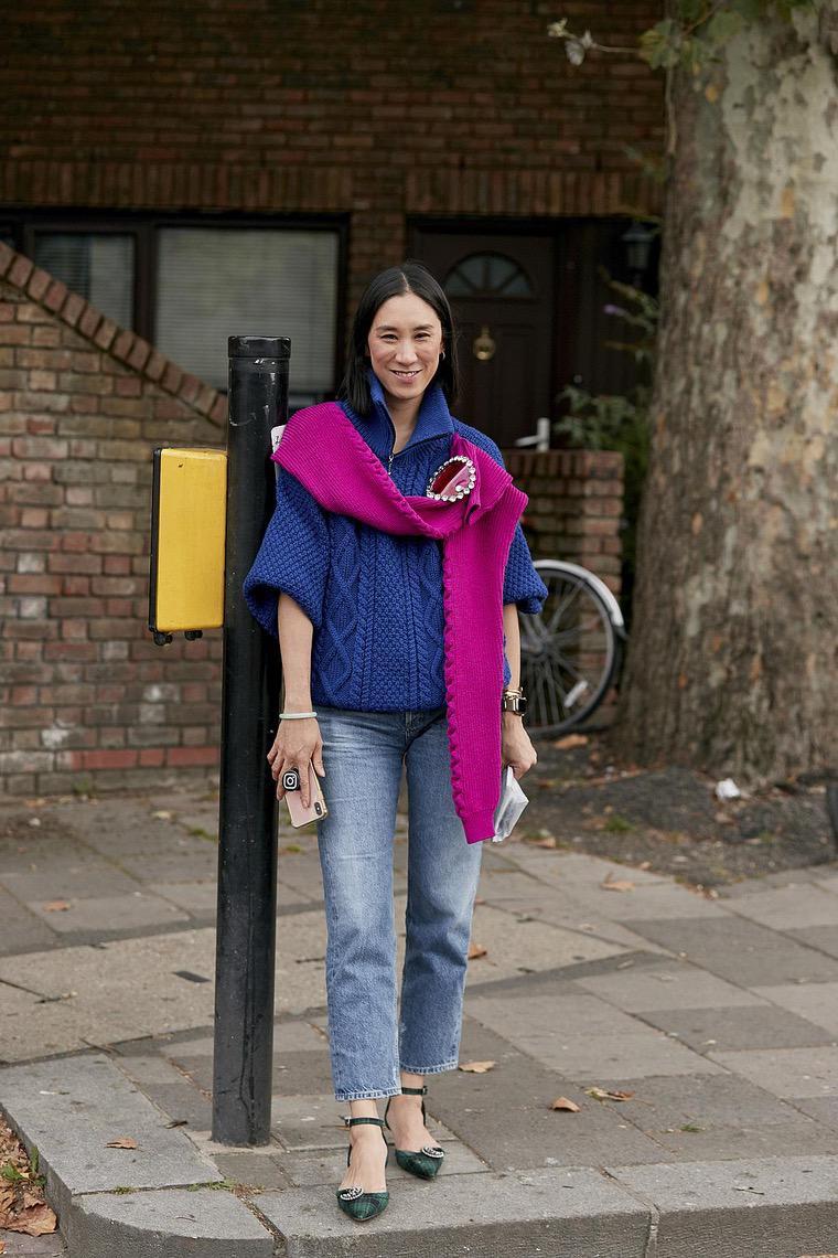 london blue street fashion jeans sweater