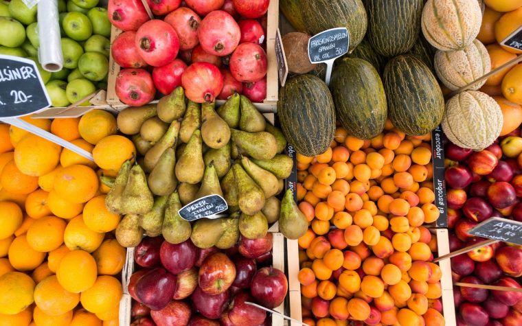 healthy diet with vitamins