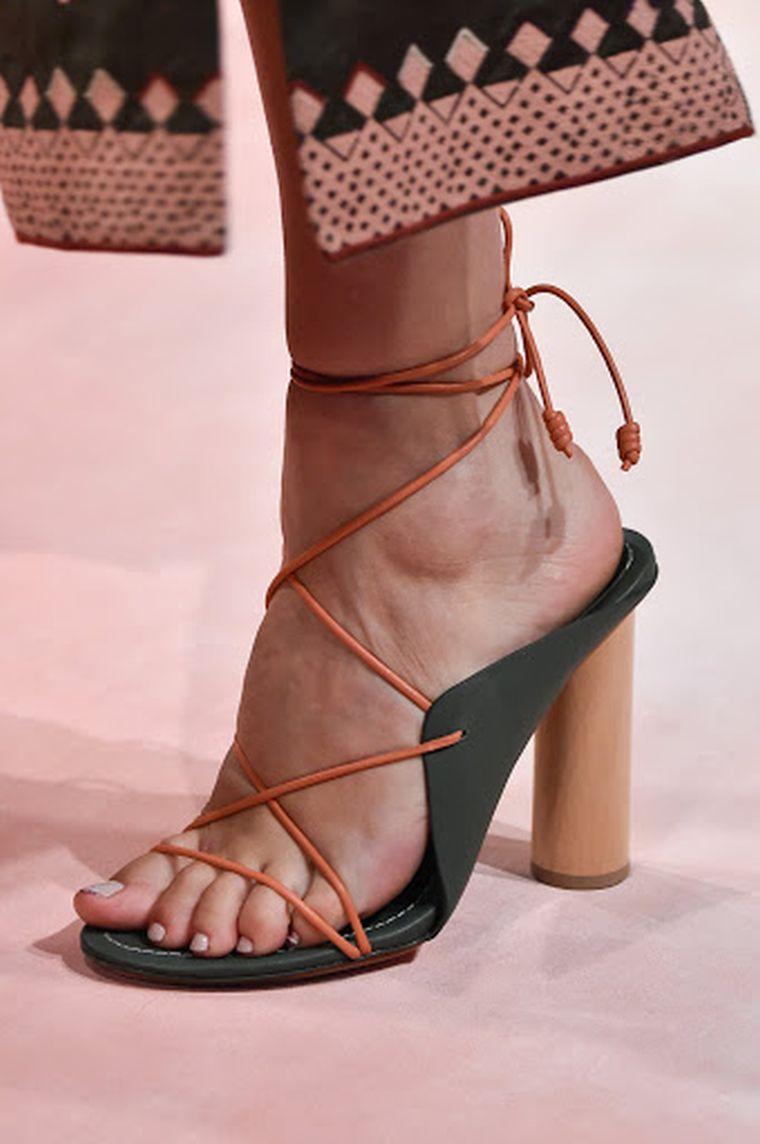 modern heeled sandals
