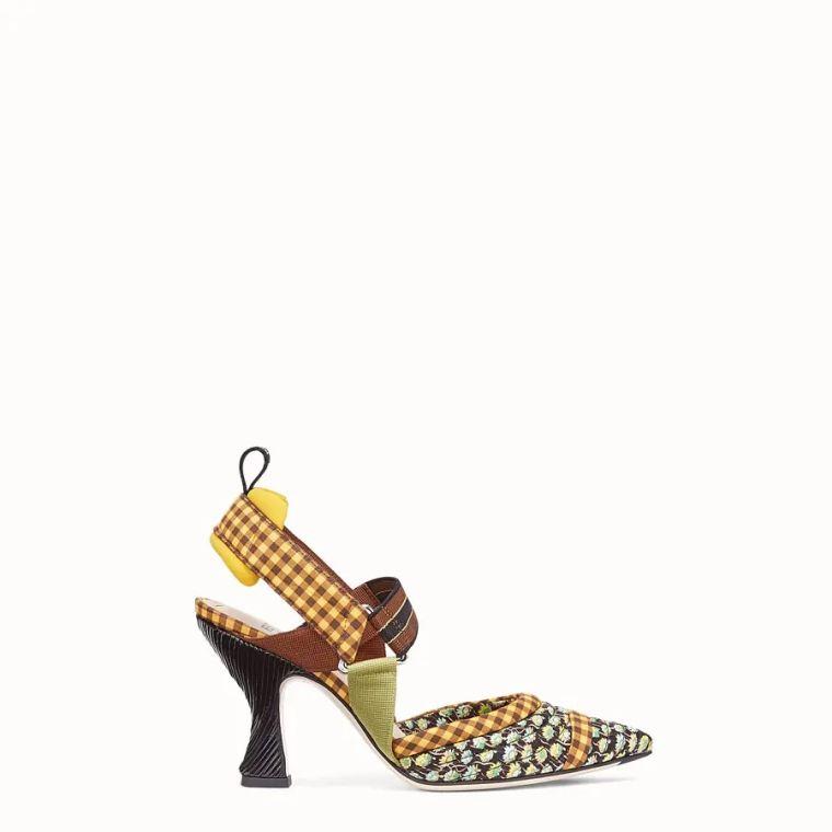 women's chunky heel summer sandals by Fendi