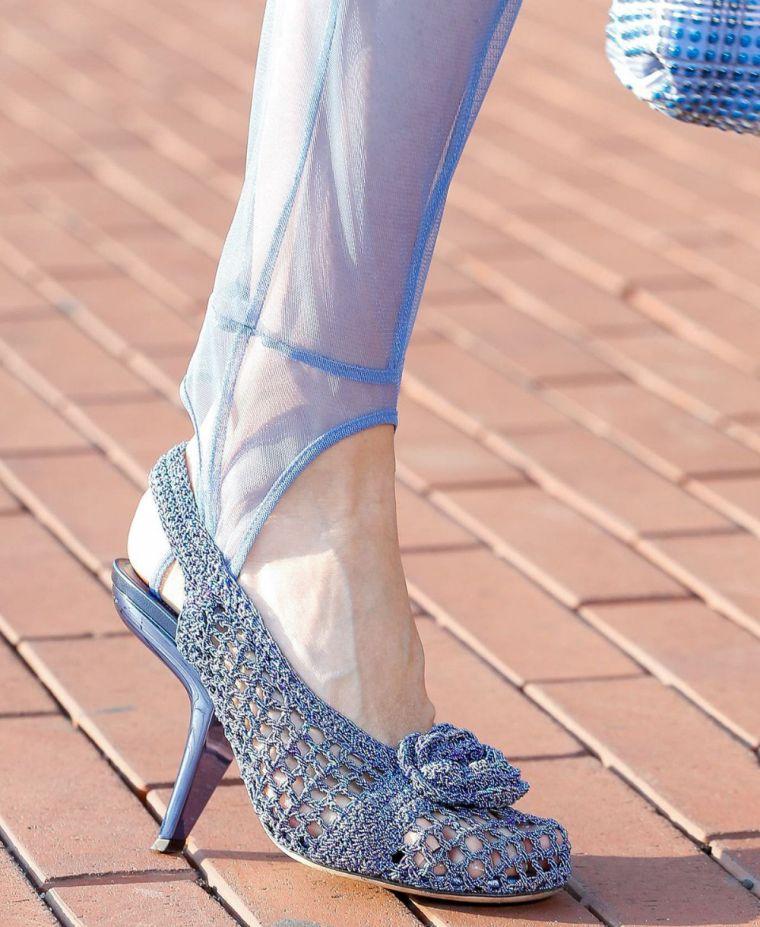 women's knitted summer sandals