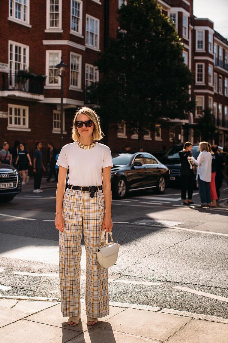 woman pants white t-shirt