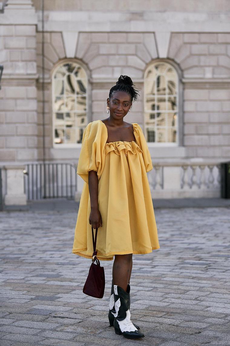 yellow and very beautiful dress