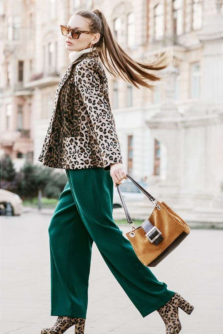 leopard jacket and shoes