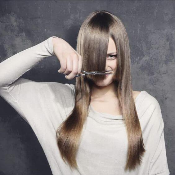 how to cut hair bangs