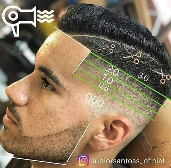 haircut men scissors machine
