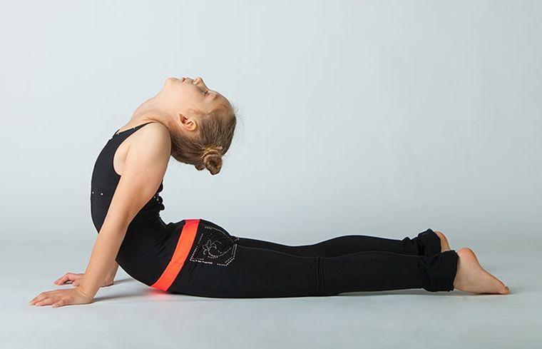 yoga exercise cobre position