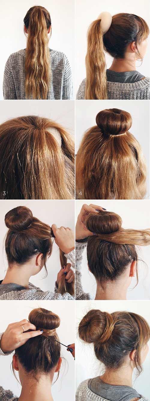 Chiffon crepe hairstyles