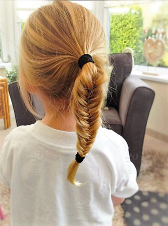 spike braid high ponytail for girls