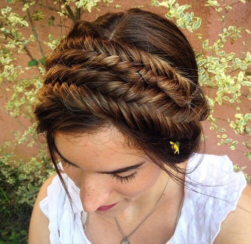 herringbone braid headband