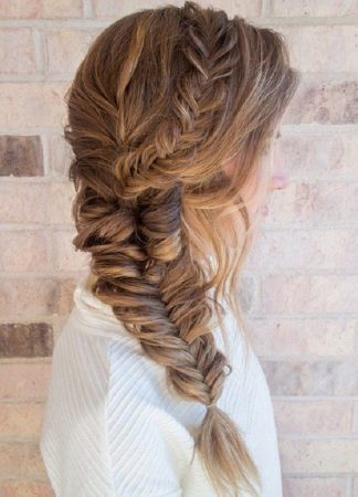 double thick herringbone braid